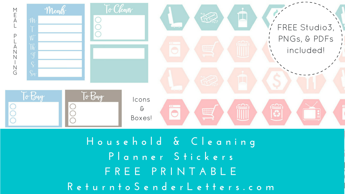 photo relating to Free Printable Food Planner Stickers identified as Return towards Sender: Letters towards the Global - PlanIt! Freebie